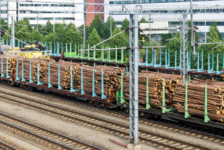 Les zložen na vlaku