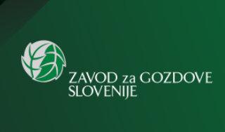 Logotip ZGS na zelenem ozadju